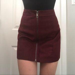 Forever 21 Suede Skirt with Zipper